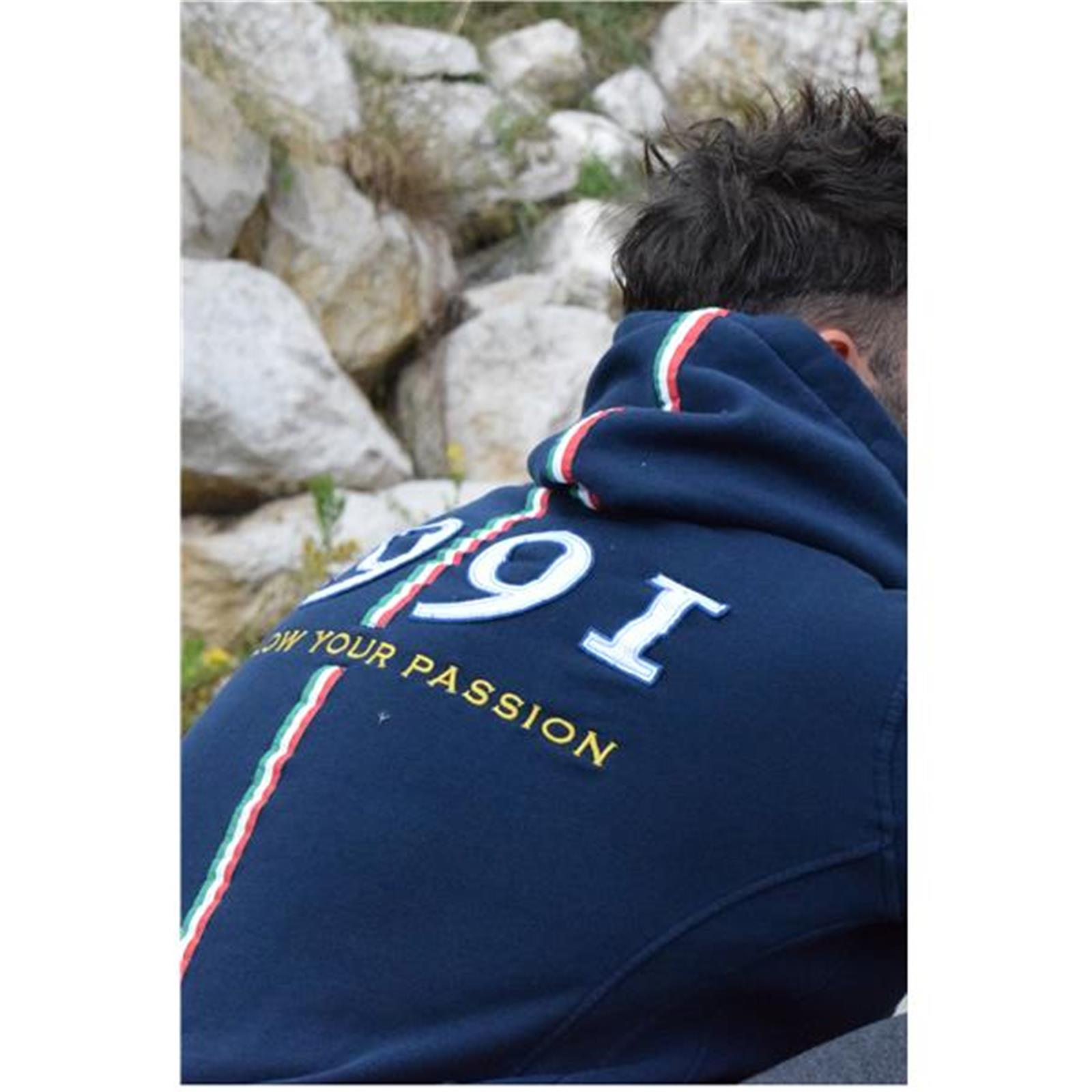 FELPA FULL ZIP 1991 (xxs - BLU NAVY)